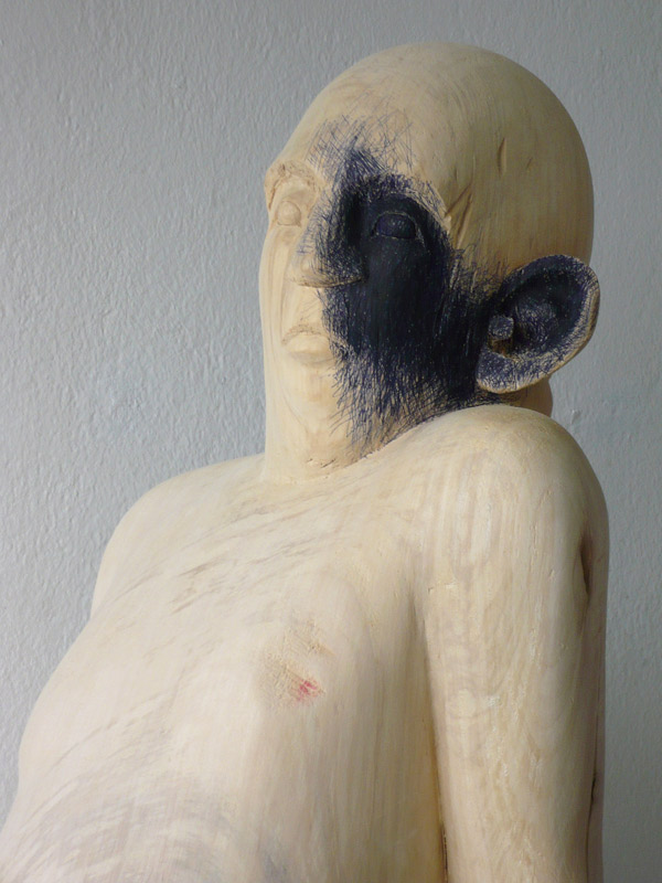 Rautenstrauch: Figur mit blauer Seite