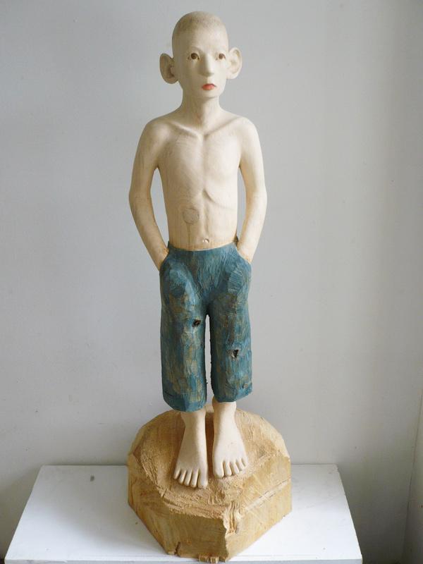 Rautenstrauch: Figur mit blauer Hose 2008